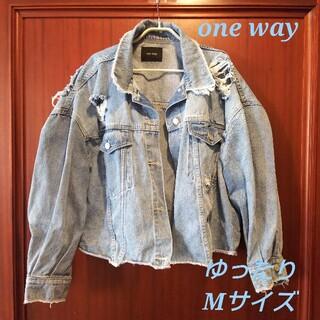 one*way - 再値下 ワンウェイ  デニム コート ブルー ダメージ ジャケット