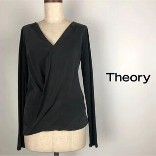 theory - セオリー しっとり感あるカットソー素材のカシュクールブラウス シャツ