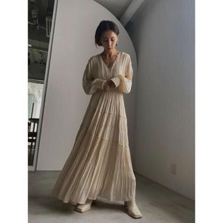 Ameri VINTAGE - 【Ameri vintage】shirring pleats dress