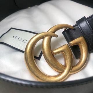 Gucci - gucci ベルト ダブルGバックル 4cm幅 正規品 アレッサンドロミケーレ