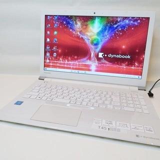 東芝 -  【オンキョースピーカー】薄型ホワイト/WEBカメラ/ノートパソコン