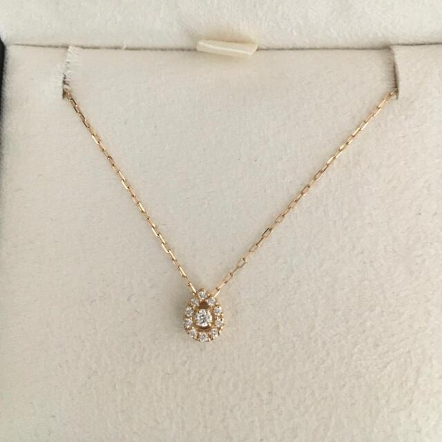 4℃(ヨンドシー)の4℃ ダイヤモンド ドロップ ネックレス K18YG 1.2g レディースのアクセサリー(ネックレス)の商品写真