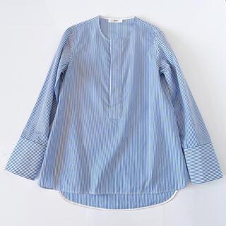 REYC リック ヨーコチャン バンドカラーシャツ ノーカラーシャツ 34