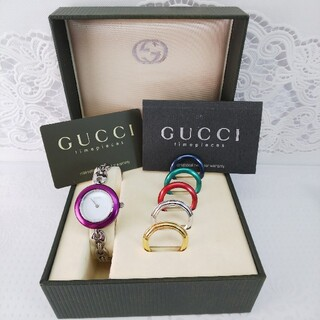 Gucci - GUCCI 腕時計 チェンジベゼル 稼働品 5364588
