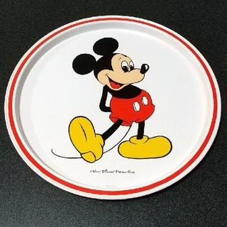 ディズニー(Disney)のミッキー 金属製 おぼん トレー(テーブル用品)