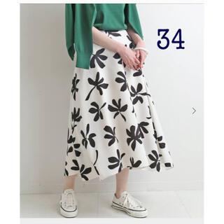 IENA - 新品■ イエナ アートプリントフレア スカート 34