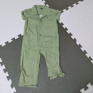 babyGAP - babyGap ベビーギャップ つなぎ ロンパース カーキ 90 男の子 半袖