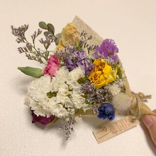 ドライフラワー 春色スワッグ 47 ブーケ 花束 インテリア(ドライフラワー)