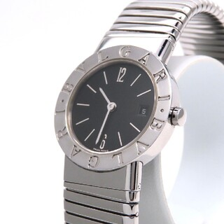 ブルガリ(BVLGARI)の【BVLGARI】ブルガリ 時計 'トゥボガス' ブラック文字盤 ☆美品☆(腕時計)