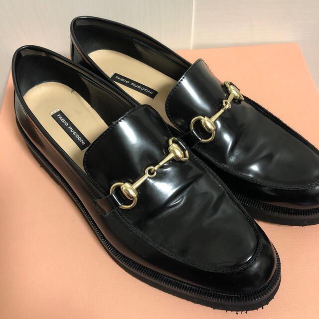 FABIO RUSCONI(ファビオルスコーニ)の Fabio Rusconi チェーンビットローファー black  レディースの靴/シューズ(ローファー/革靴)の商品写真