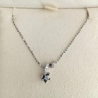 STAR JEWELRY - スタージュエリー ブラックダイヤモンド ネックレス K18WG 0.15ct