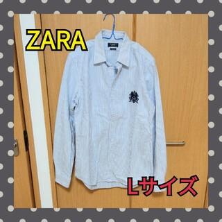 ZARA - ZARA 長袖シャツ 人気のストライプ メンズ シャツ 即日発送