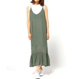 プレーンクロージング(PLAIN CLOTHING)のPLAIN CLOTHING キャミロングフリル ワンピース(ロングワンピース/マキシワンピース)