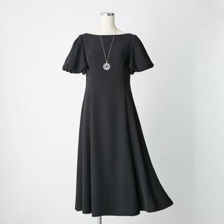 FOXEY - フォクシー WASHABLE ドレス ブラック