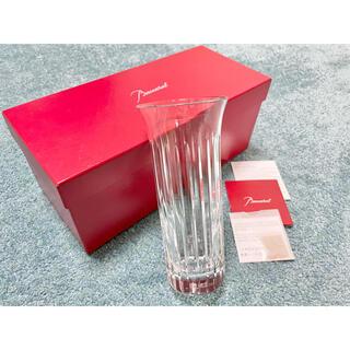 バカラ(Baccarat)の美品 バカラ Baccaratフローラ ベース ビゾー 花瓶 フラワーベース(花瓶)