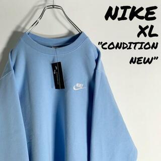 NIKE - 【新品未使用】ナイキ《NIKE》スウッシュ ワンポイント刺繍ロゴ スウェット