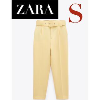 ZARA - 【新品/未着用】ZARA ベルト付きハイライズパンツ テーパードパンツ パンツ