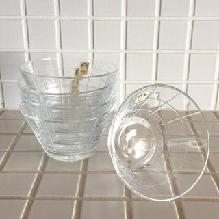 トウヨウササキガラス(東洋佐々木ガラス)の*SASAKI CRYSTAL*  デザートカップ(食器)