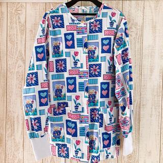 PINK HOUSE - 美品 個性的 クマ柄 長袖シャツ