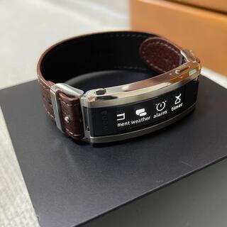 SONY - 21/3月購入 SONY wena3  レザーバンド suica ID使用可能
