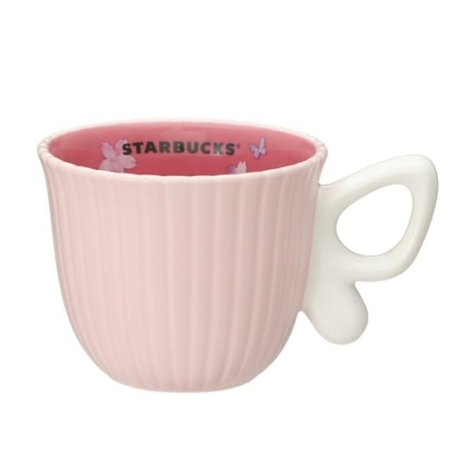 Starbucks Coffee(スターバックスコーヒー)の限定◆スターバックス SAKURA2021マグ バタフライハンドル296ml インテリア/住まい/日用品のキッチン/食器(グラス/カップ)の商品写真