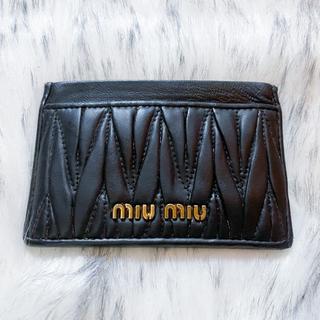 miumiu - miumiu (ミュウミュウ) パスケース ブラック