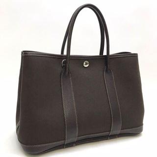 エルメス(Hermes)のエルメス ガーデンパーティTPM ハンドバッグ トワルオフィシェ ブラウン(ハンドバッグ)