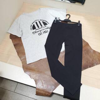 【同梱限定】BIGTシャツ×総ゴムレギンス2点セット 1957 グレー×黒