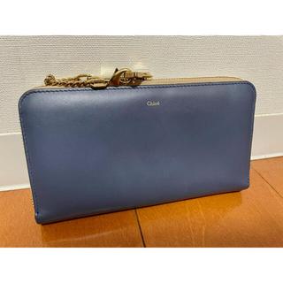 Chloe - クロエ 長財布 ブルー バイカラー