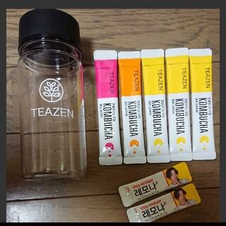 ティーゼン TEAZEN コンブチャ ボトル ホワイト おまけ付(茶)
