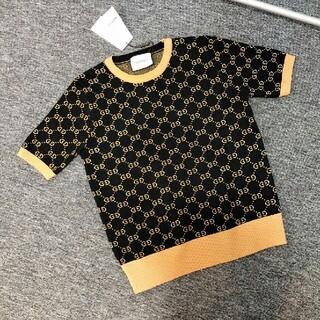 Gucci - 人気ダブルGジャカードロゴニットレディース半袖