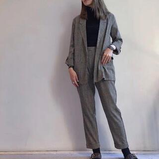 【新品】グレンチェック セットアップ M〜L ジャケット パンツ
