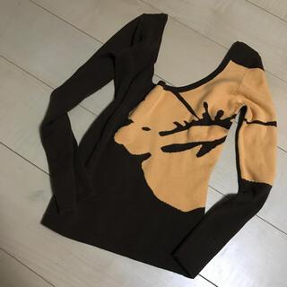 ALBA ROSA - 正規アルバローザ ニット トップス ハイビスカス ロゴ