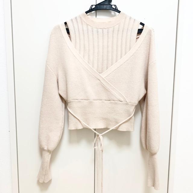 Lily Brown(リリーブラウン)のレイヤードニットトップス レディースのトップス(ニット/セーター)の商品写真