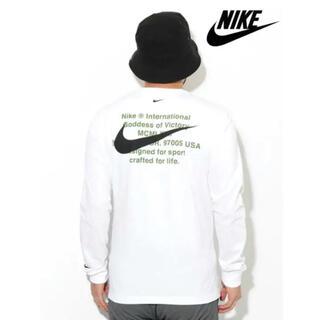 NIKE - 【NIKE】ナイキ スウッシュ Tシャツ ロンT 長袖 ホワイト L デカロゴ