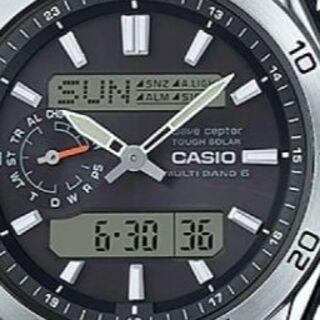 カシオ(CASIO)の★新品同様★ソーラーコンビネーション WVA-M650-1AJF(腕時計(デジタル))