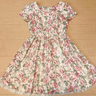 L'EST ROSE - レストローズ  花柄ワンピース ピンク ドレス