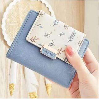☆人気折財布 二つ折財布 リーフ柄財布 オシャレ折財布 レディース折財布