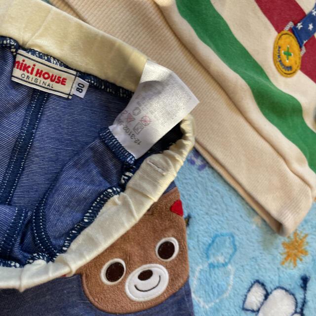 mikihouse(ミキハウス)のMIKIHOUSE ミキハウス 男の子 80セット プッチー キッズ/ベビー/マタニティのキッズ服男の子用(90cm~)(パンツ/スパッツ)の商品写真