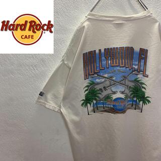ロックハード(ROCK HARD)の90s レアロゴ ハードロックカフェ ビッグロゴ 定番ブランド L Tシャツ(Tシャツ/カットソー(半袖/袖なし))