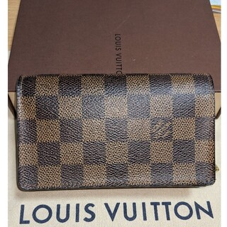 LOUIS VUITTON - ルイヴィトンダミエ財布 L字ファスナー 箱付き