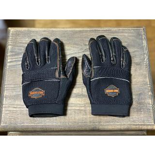 ハーレーダビッドソン(Harley Davidson)の★ハーレーダビッドソン レザー パンチンググローブ 黒/L(XL相当)(装備/装具)