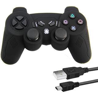 プレイステーション3(PlayStation3)の【新品】PS3 コントローラー ワイヤレス ゲームパッド USB★当日発送!(その他)