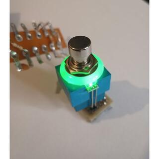 セットLED付き 3PDT フットスイッチ 緑 FootSwitch GREEN(エフェクター)