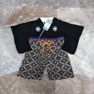 子供の日 ロンパース サイズ60 袴風 男児 ハーフバースデー お食い初め 新品