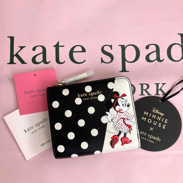 kate spade new york(ケイトスペードニューヨーク)のケイトスペード ミニー 折り財布 ドット 水玉 コラボ 即日発送 レディースのファッション小物(財布)の商品写真