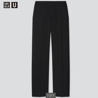 UNIQLO - UNIQLO リラックスストレートパンツ 黒