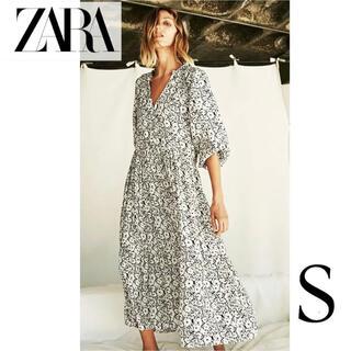 ZARA - 新品タグ付 ZARA  プリント柄オーバーサイズワンピース