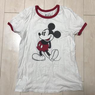 ロキエ(Lochie)のVintage disney mickey リンガー tシャツ 古着 ミッキー(Tシャツ(半袖/袖なし))
