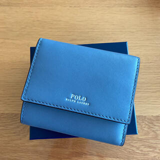 POLO RALPH LAUREN - 新品箱入り ラルフローレン ナパレザー二つ折り財布 ブルー